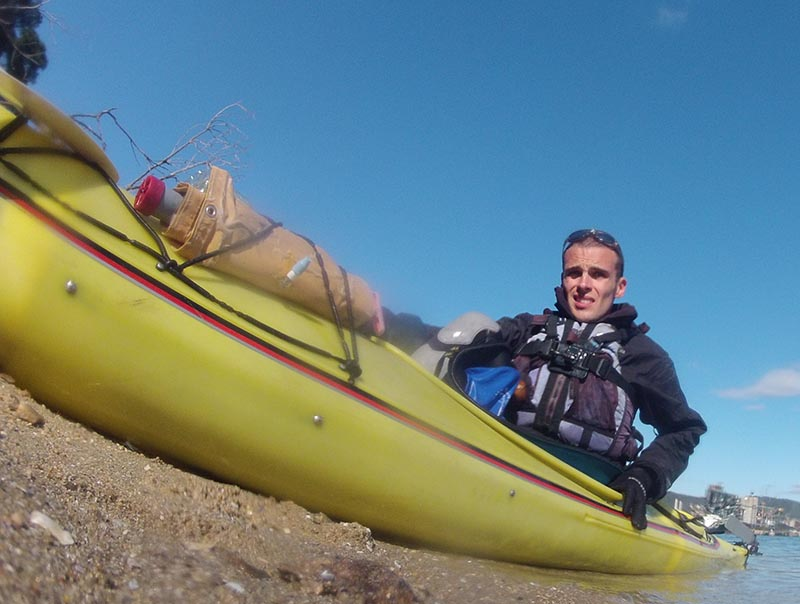 Getting out of the Kayak