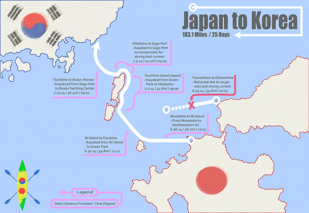 Japan to Korea Post Expedition Map
