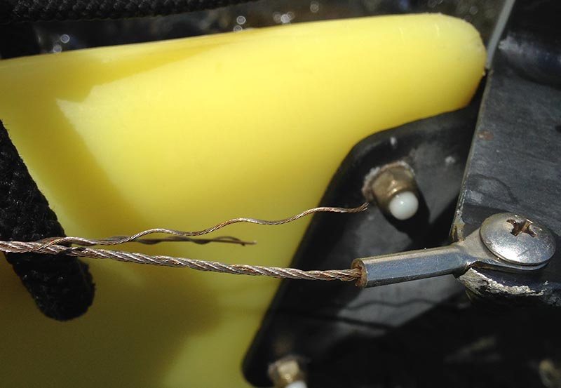 Frayed Kayak Rudder Cable